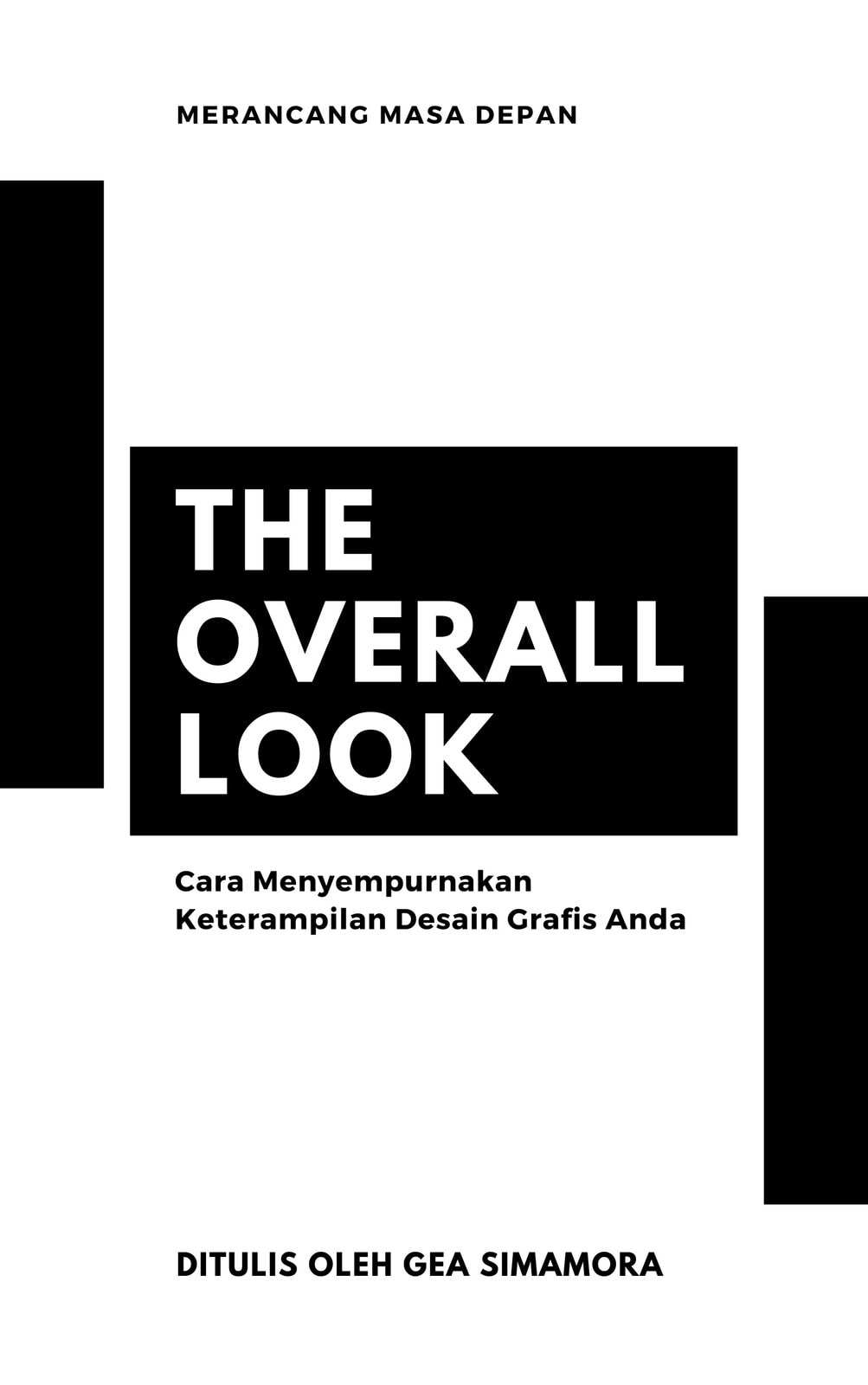 Sampul Buku Desain Grafis Minimalis Modern Hitam & Putih