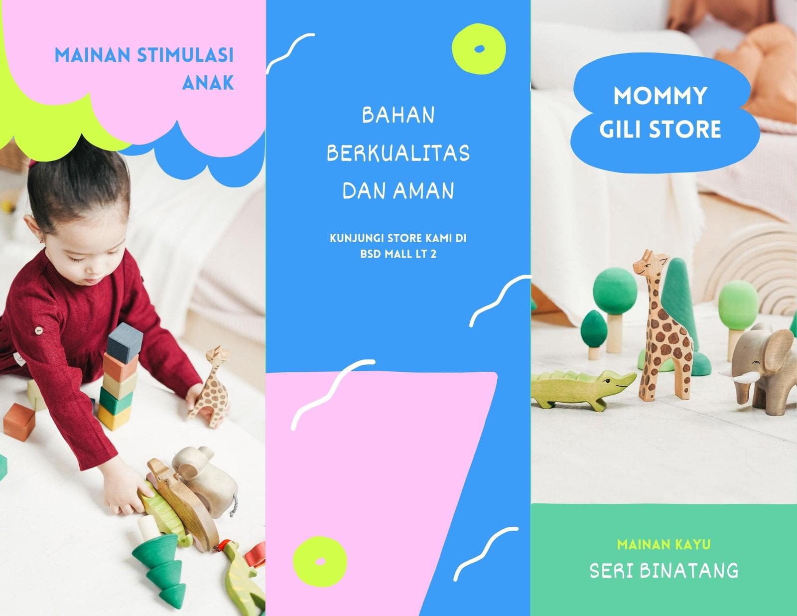Brosur Daftar Harga Mainan Edukatif Anak Warna Warni