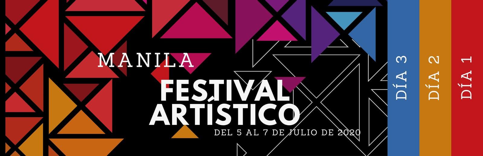 Colorido Geométrico Festival Artístico Evento Boleto