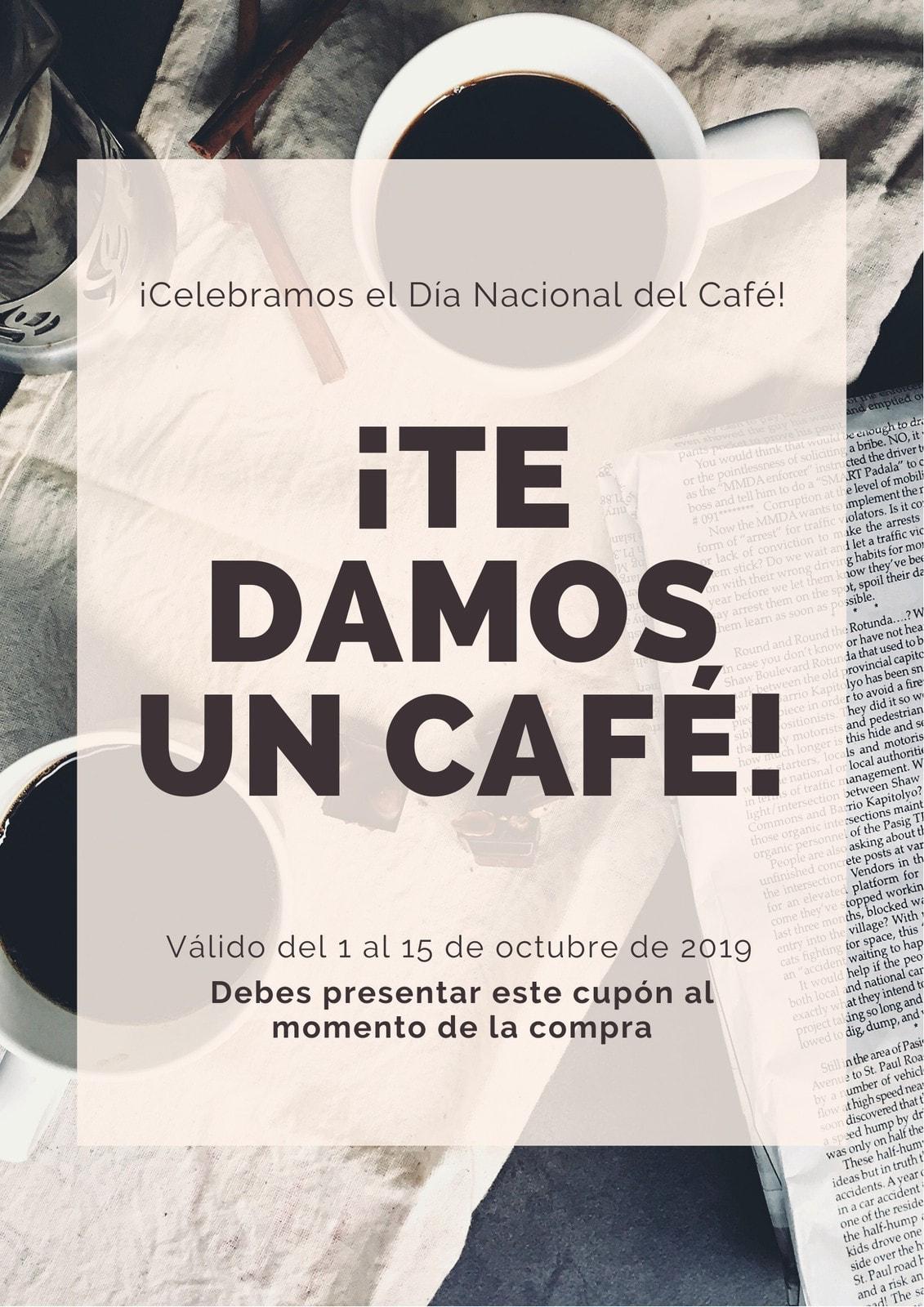 Marrón Foto de Taza de Café Cupón