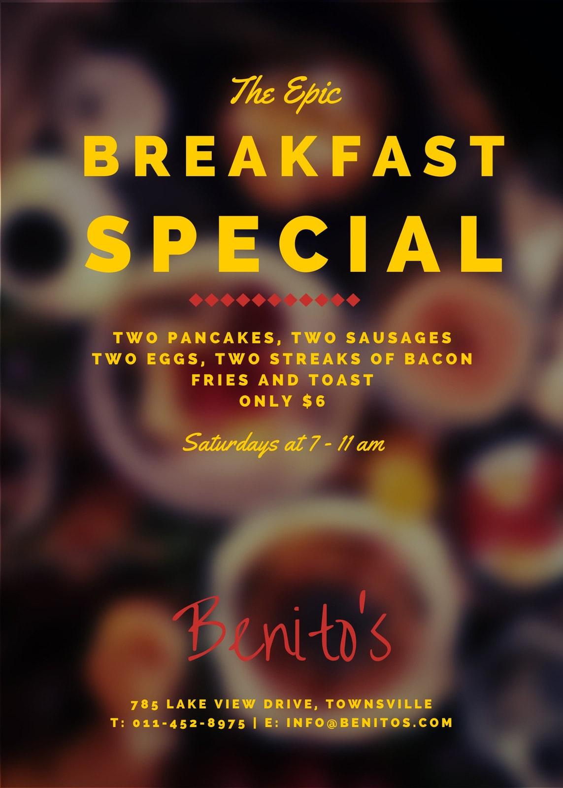 Tasty Breakfast Promotional Flyer