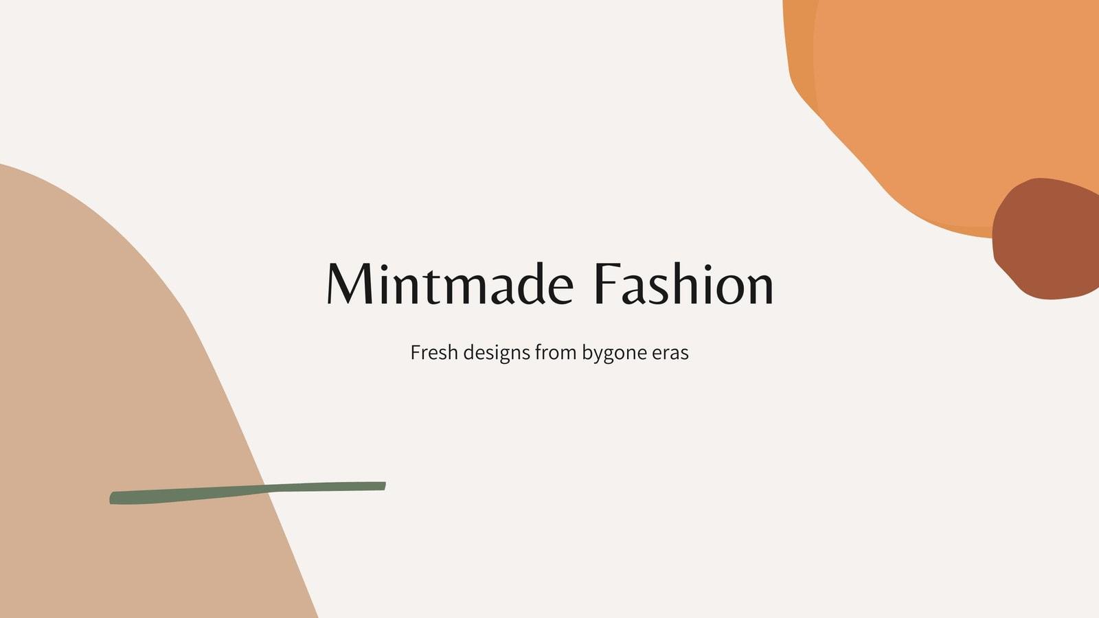 Brown and Orange Neutral Delicate Organic Fashion Marketing Video Presentation