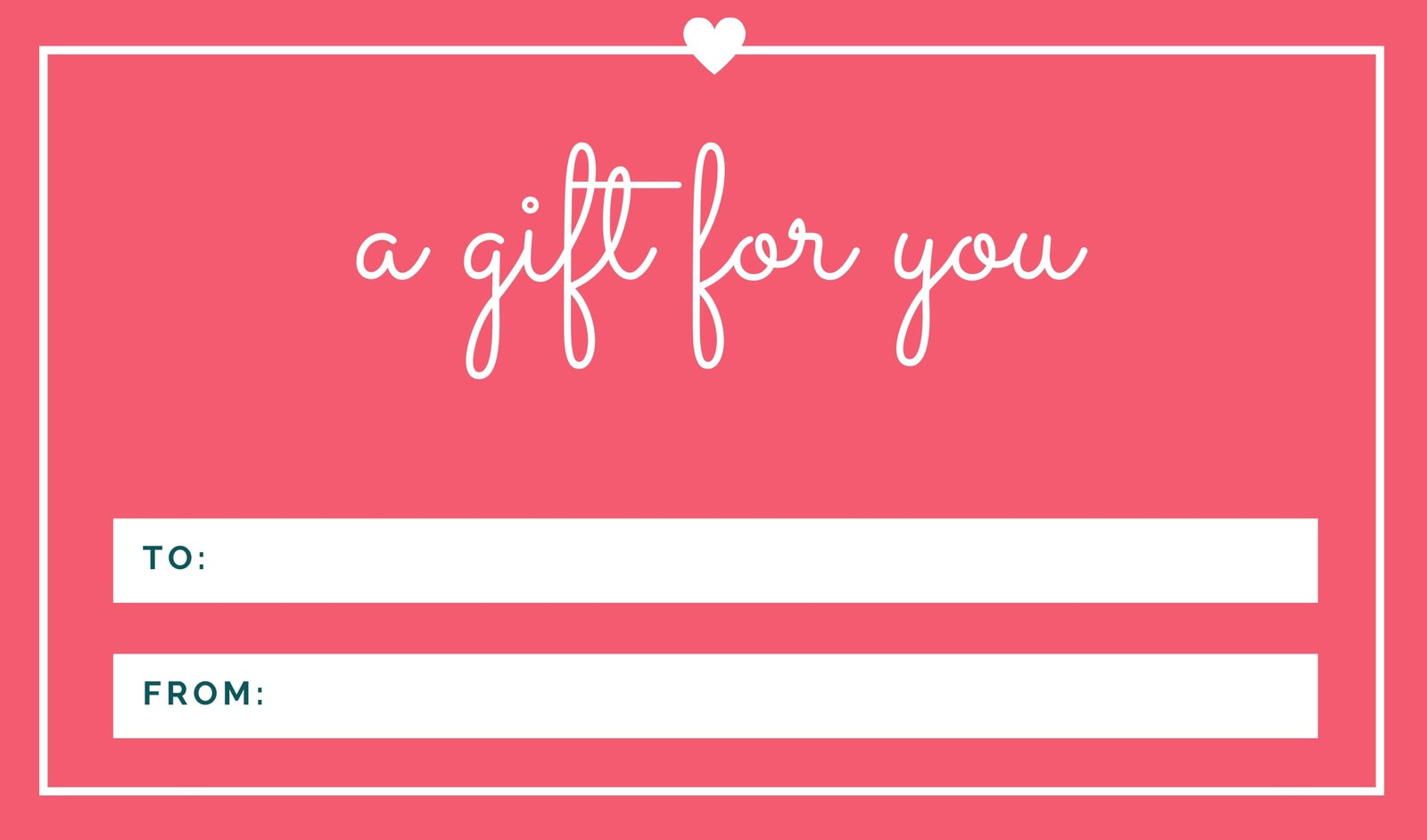 Pink Bordered with Heart Gift Tag