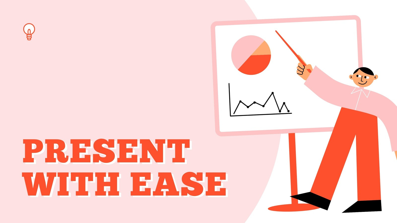 Light Pink and Orange Illustrative Fun Business Spot Illustrations Presenting with Ease Business Presentation