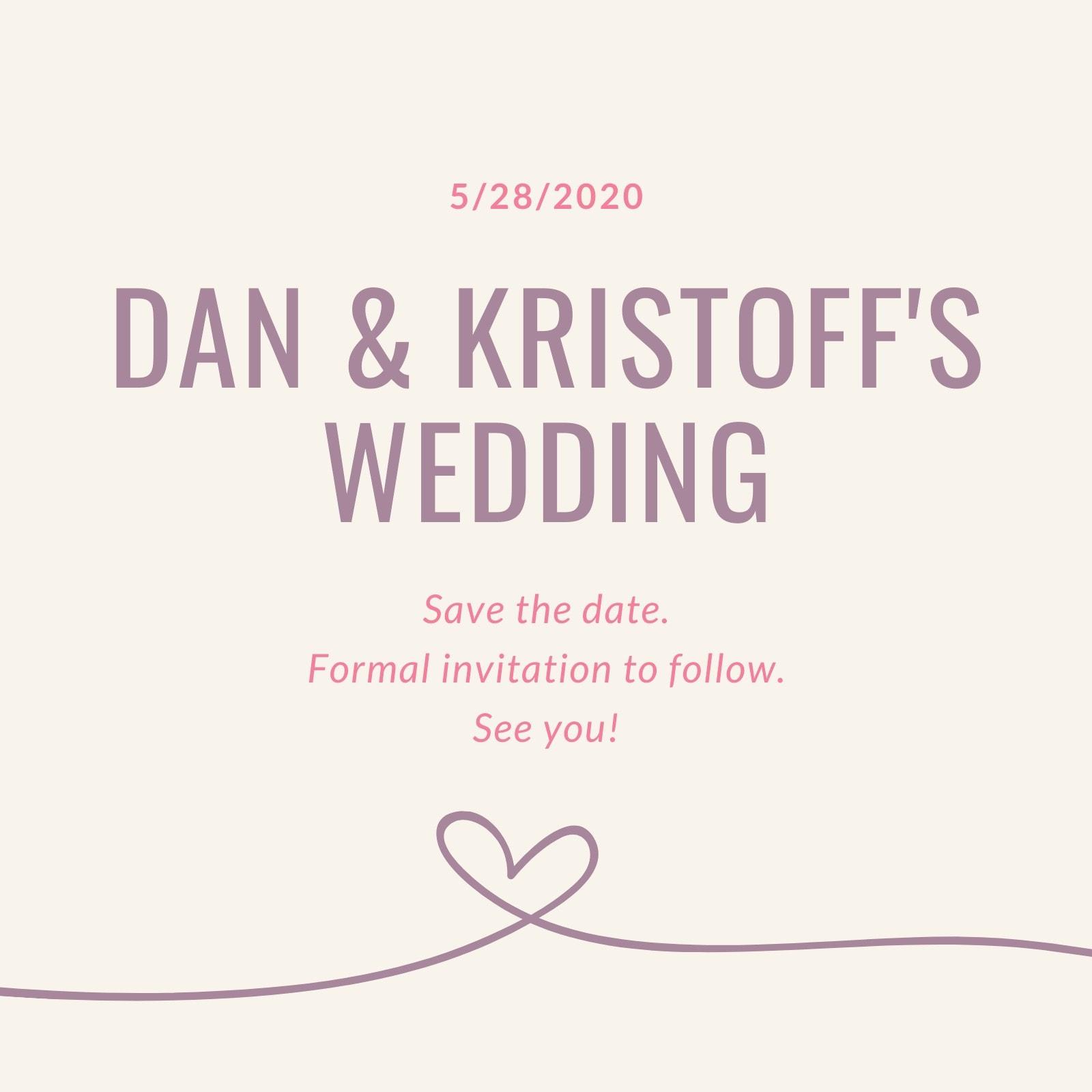 Pastel Gay Wedding Invitation