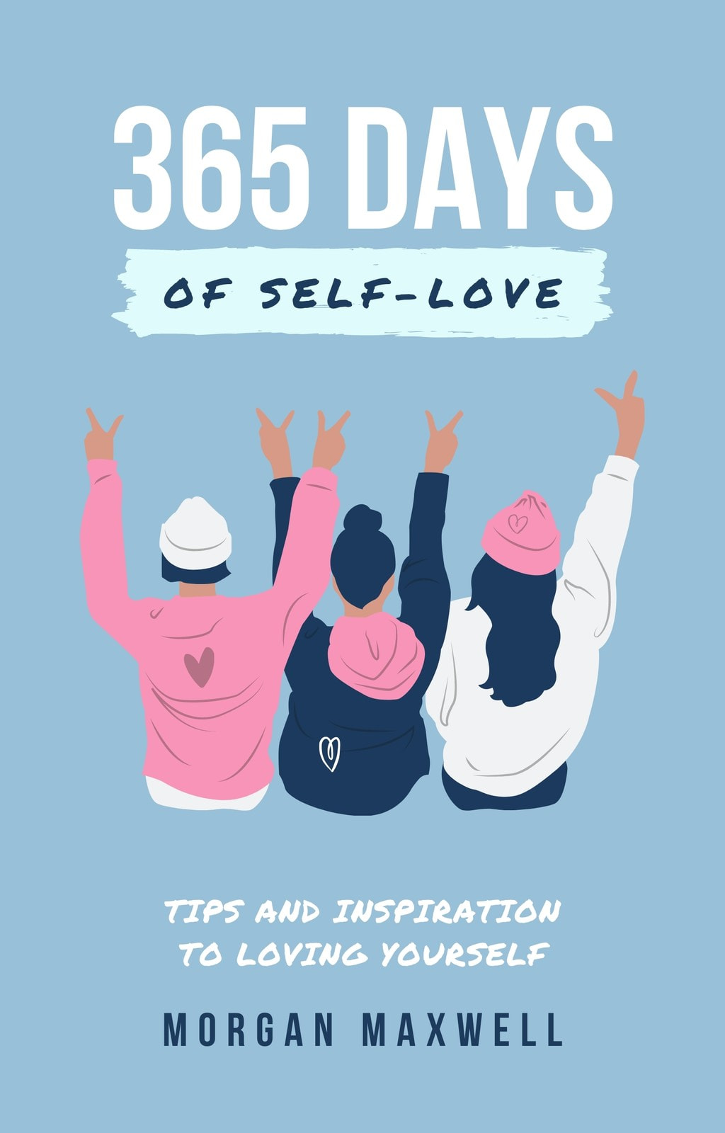 Blue Illustrated Self Love Book Cover