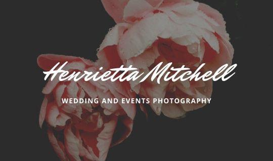 Print Photographer business card - Black Floral Photographic Business Card