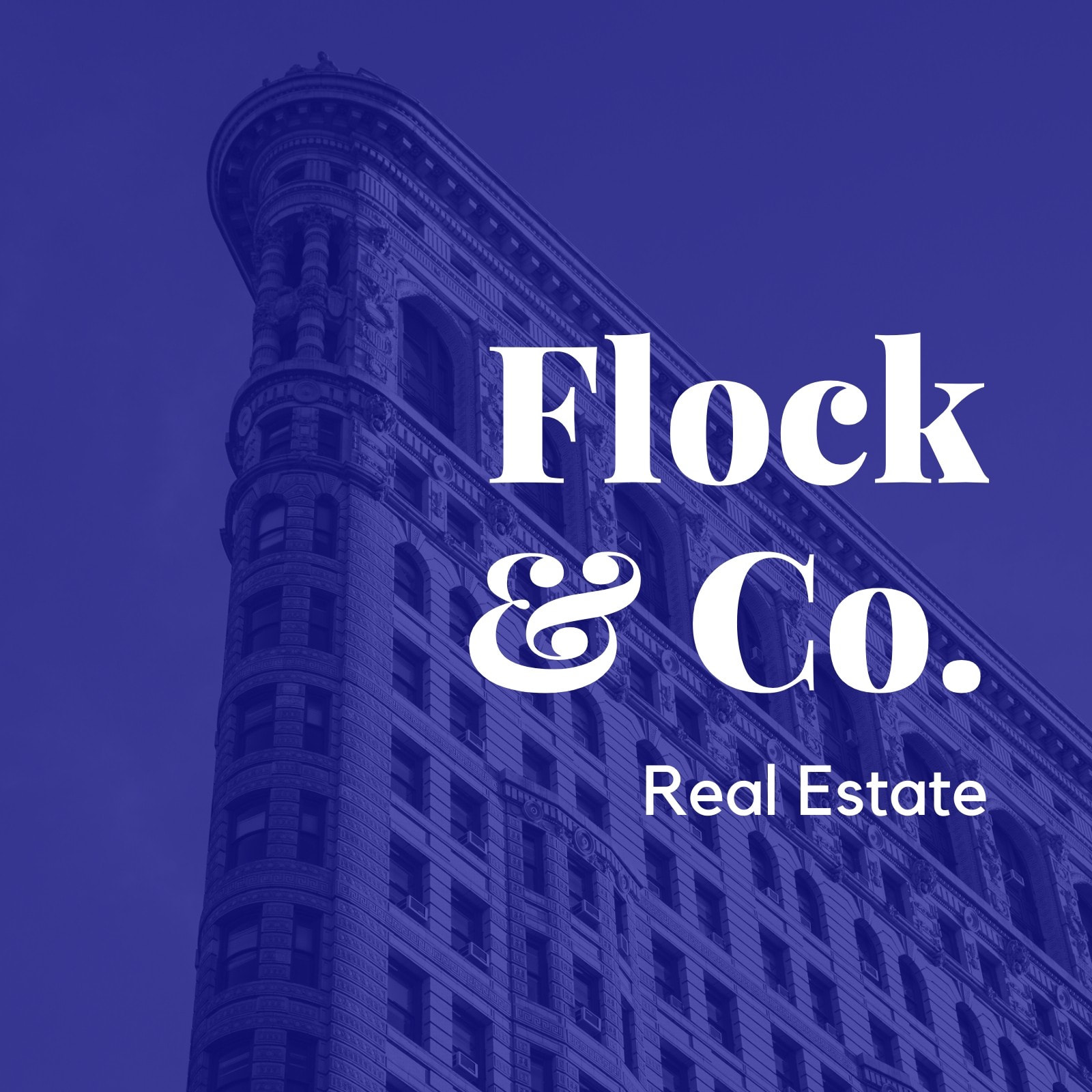 Flock & Co. Blue Building Etsy Shop Icon