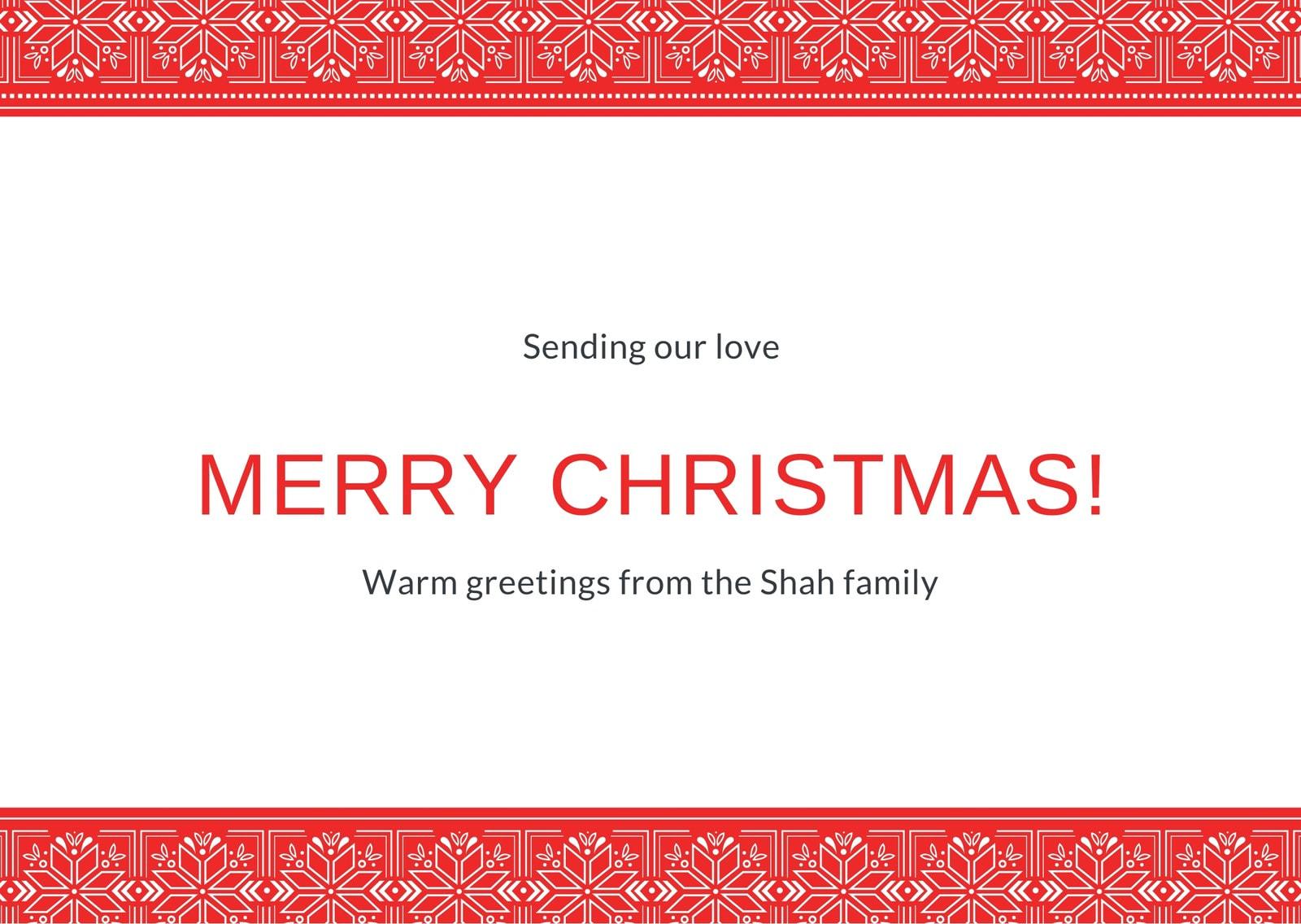 Merry Christmas Snowflake Family Postcard