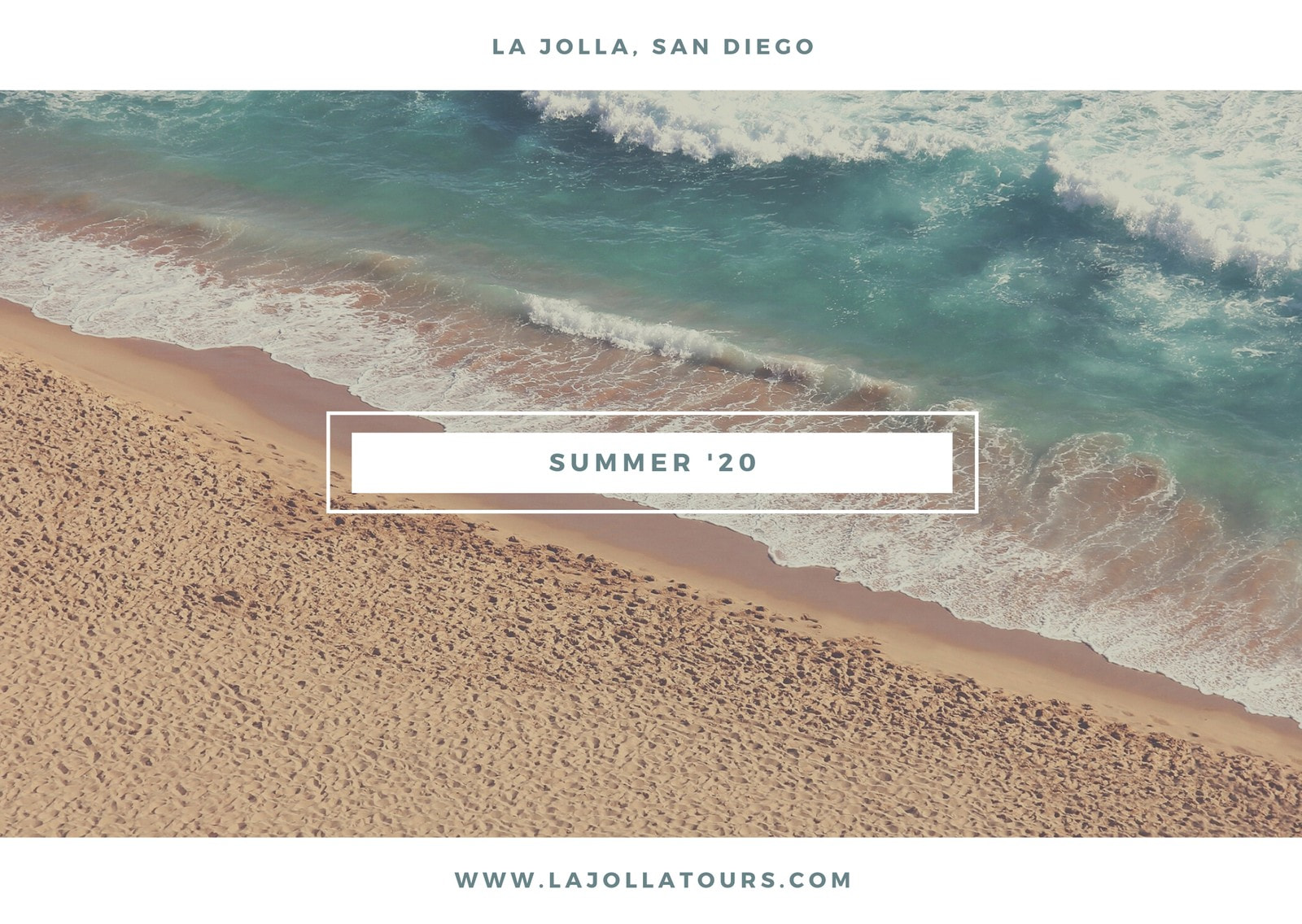Beach Location Holiday Postcard