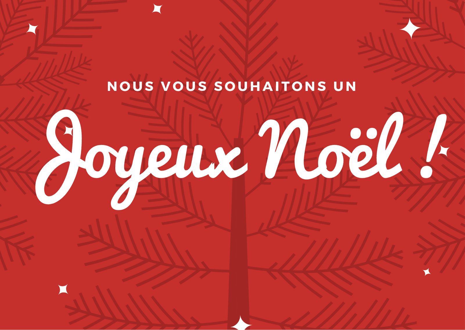 Rouge Sapin Noël Art Carte