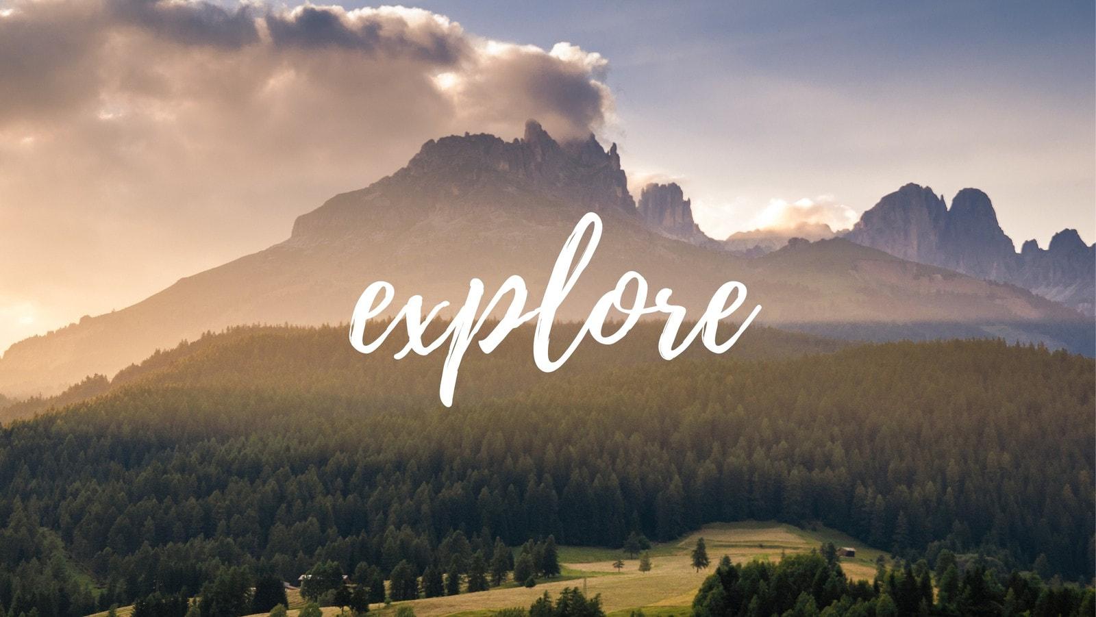 Explore Brush Script Facebook Cover