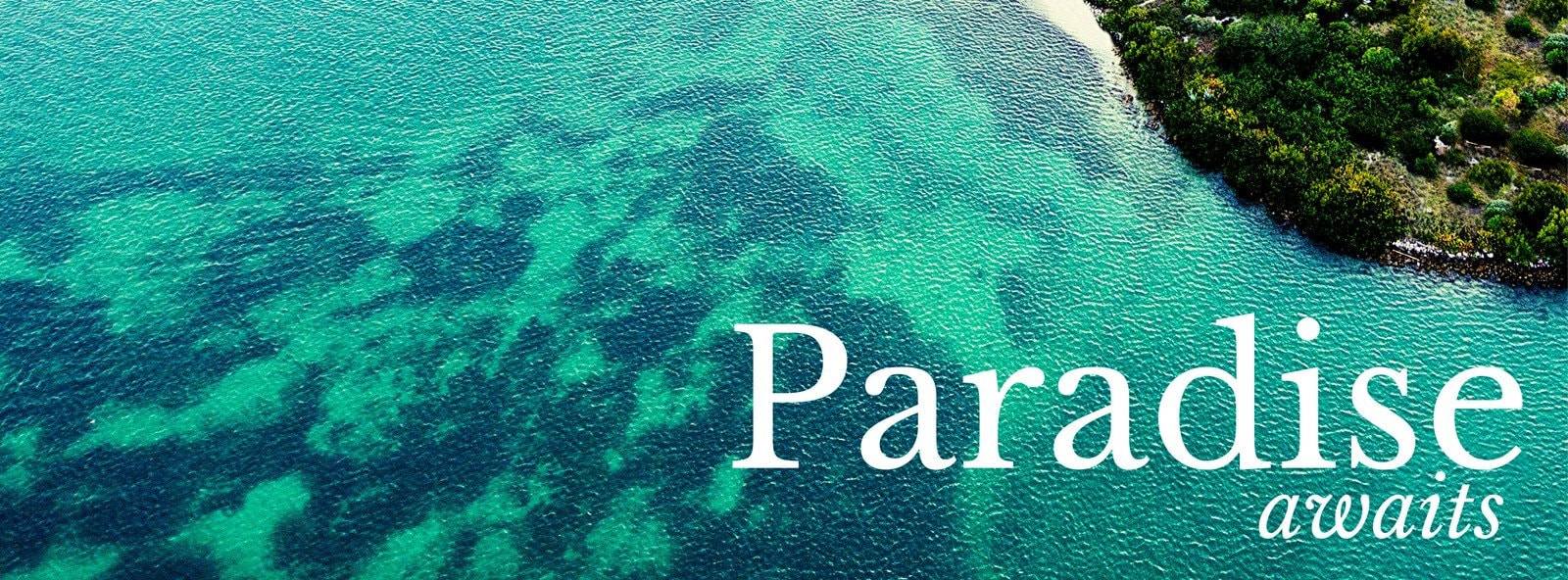 Blue Waters Paradise Facebook Cover