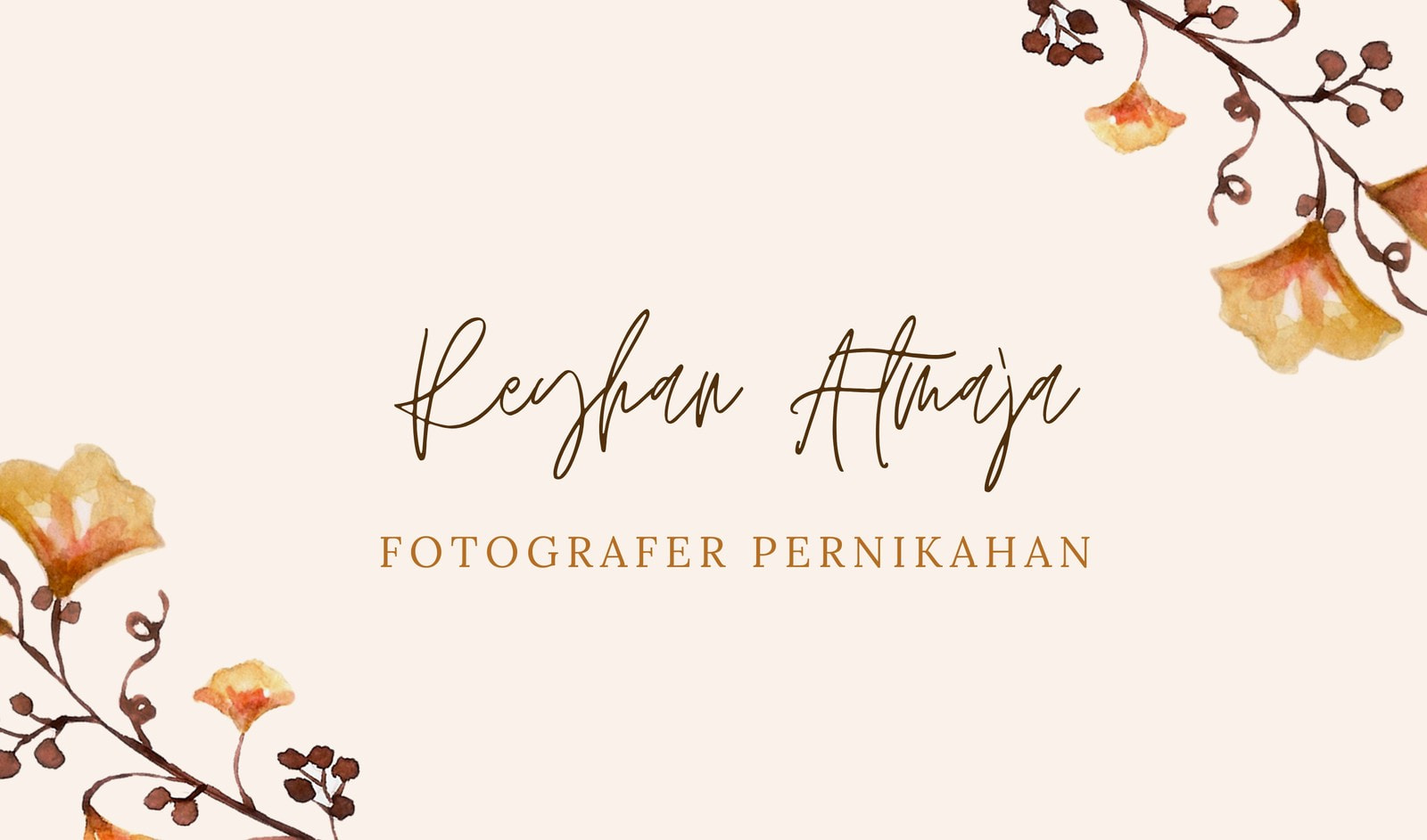 Kartu Nama Fotografer Bunga  Cokla dan Putih