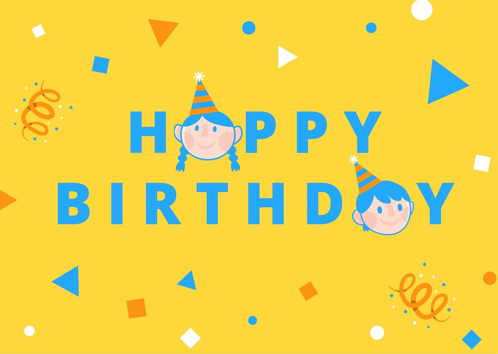 Kids Cute Birthday Card