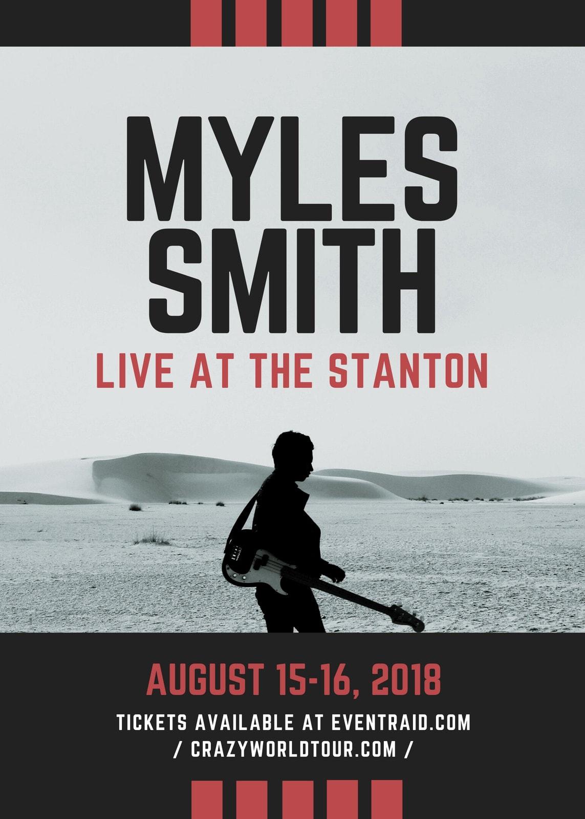 Guitarist Musician Solo Concert Flyer