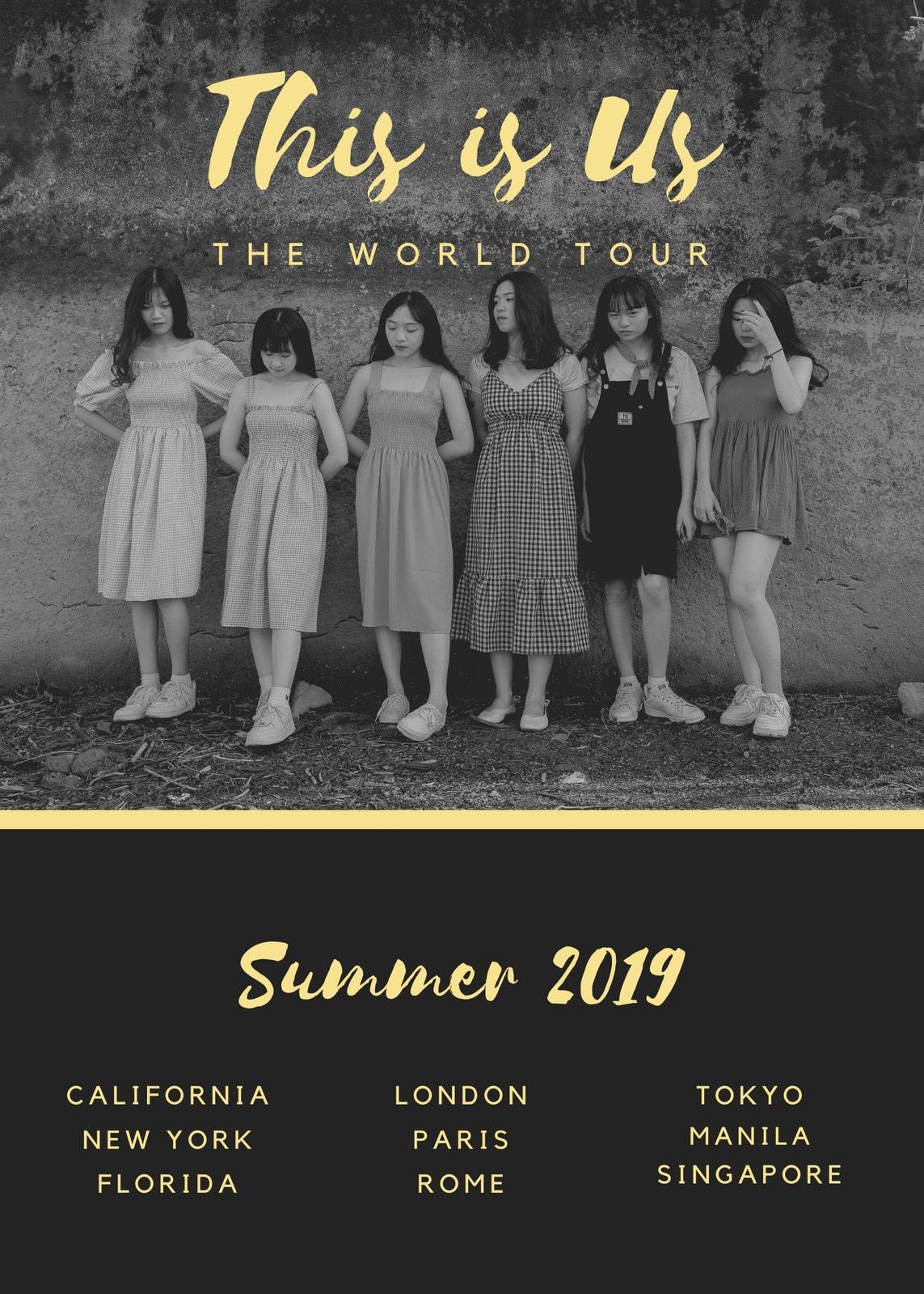 World Tour Girl Band Flyer