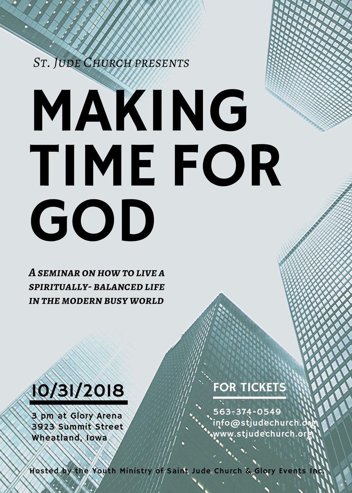 Photographic Church Seminar Flyer