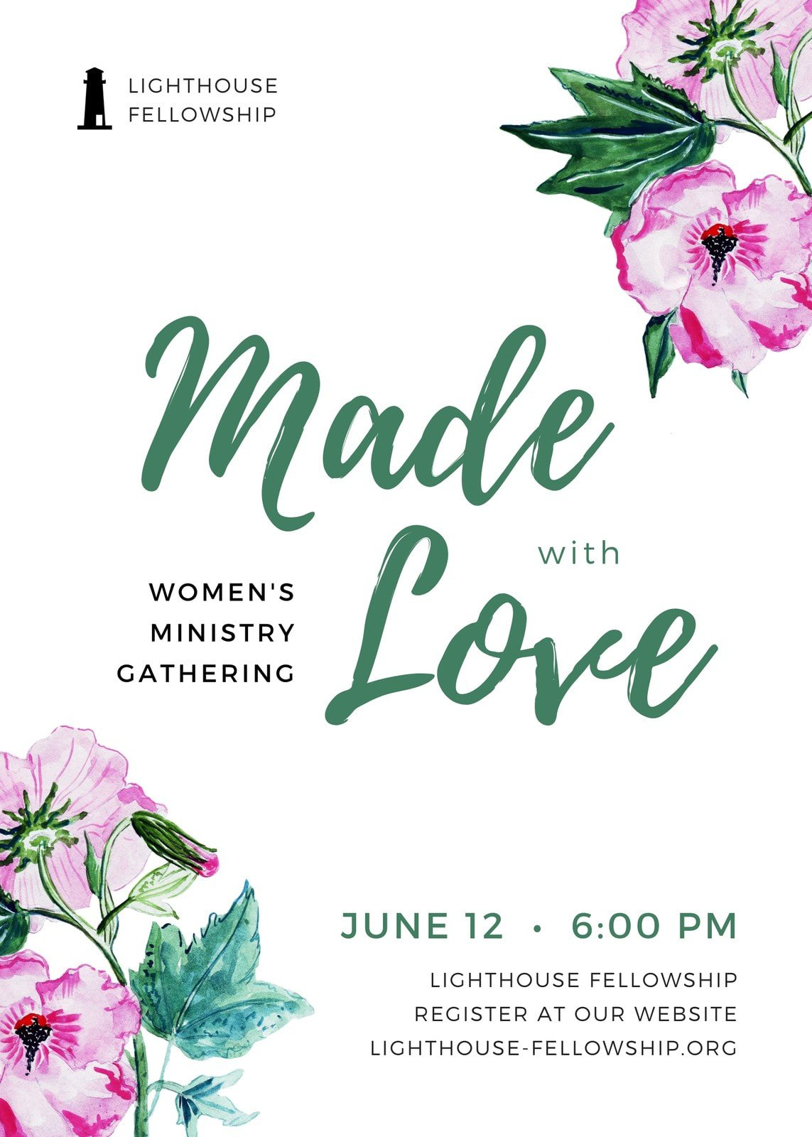 Made with Love Florals Church Flyer