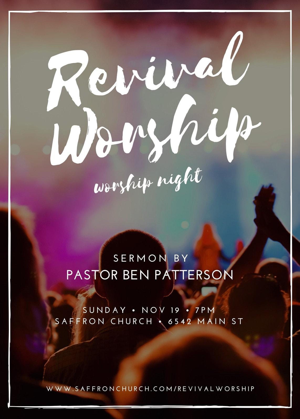 Revival Worship Church Event Flyer