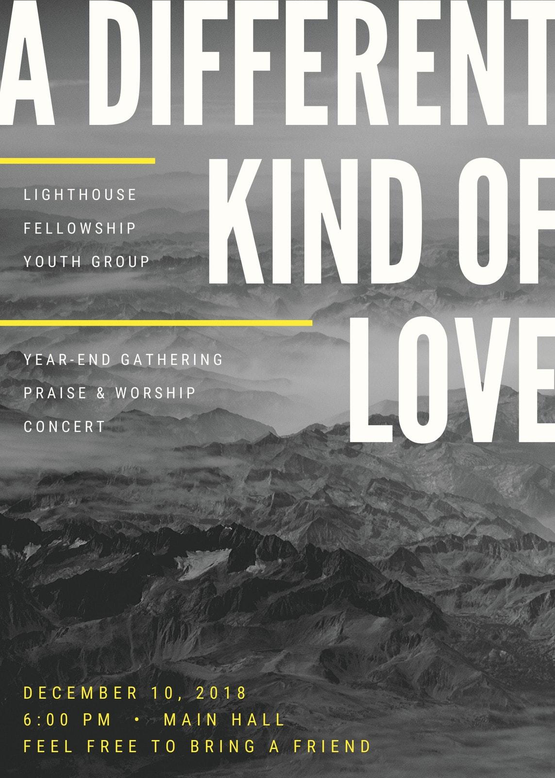 Mountain Landscape Church Flyer
