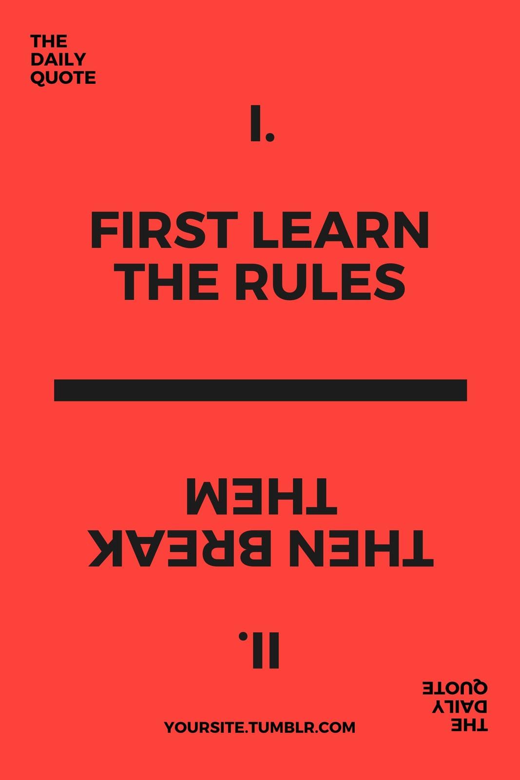 Red Typographic Tumblr Graphic