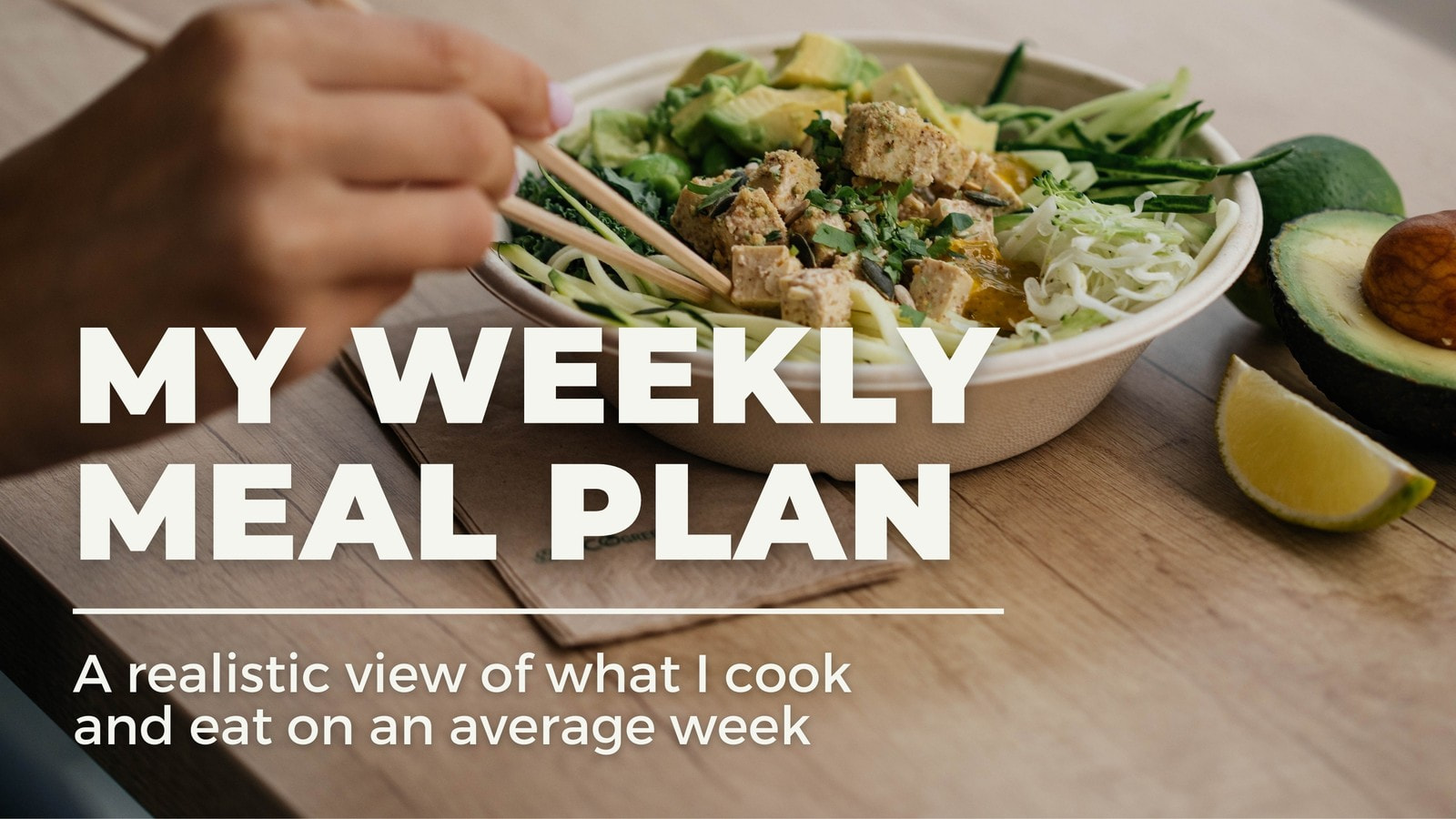 White Clean Video Centric Meal Plan Food YouTube Thumbnail