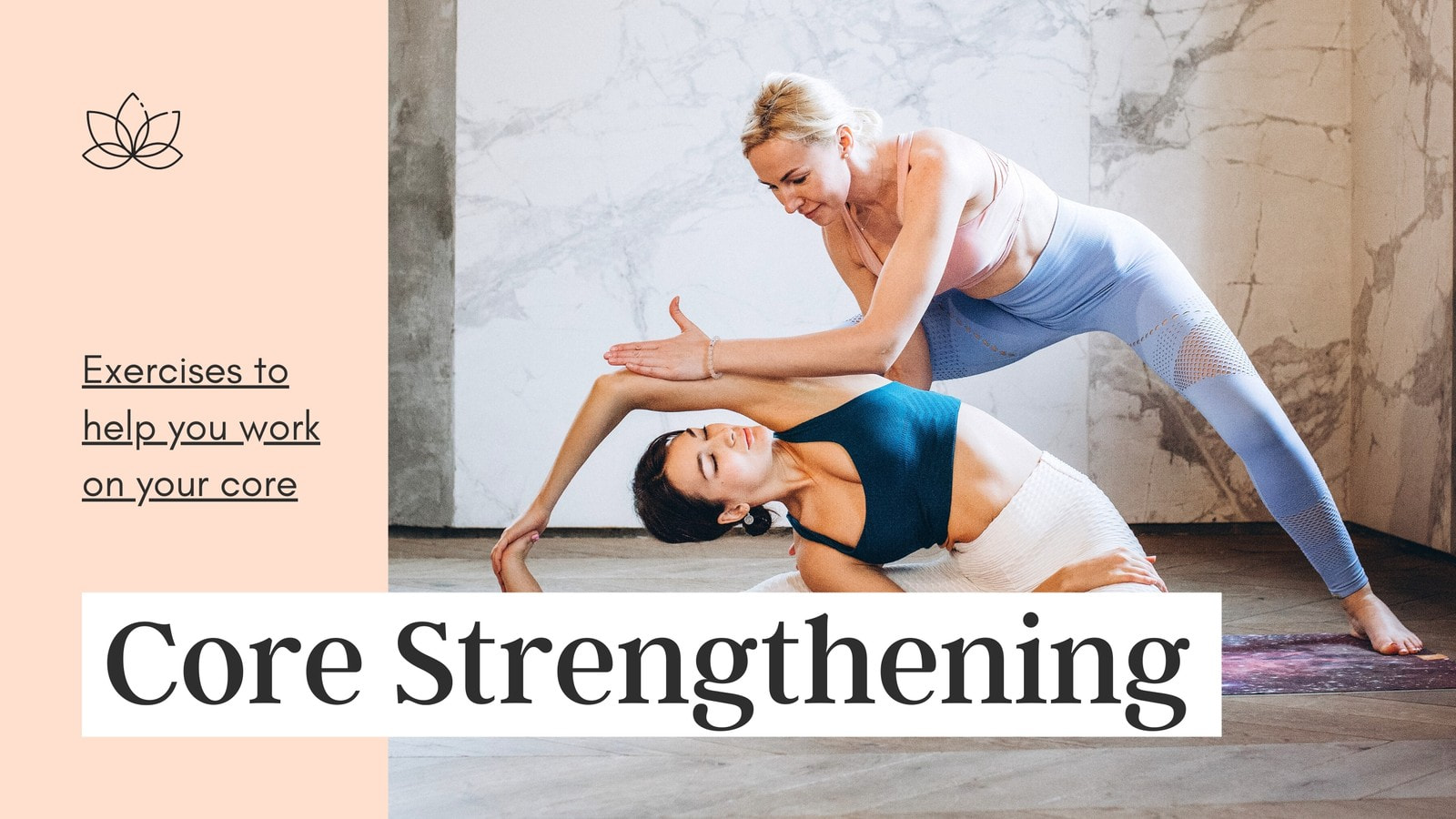 Peach and Grey Delicate Pastel Fitness YouTube Thumbnail