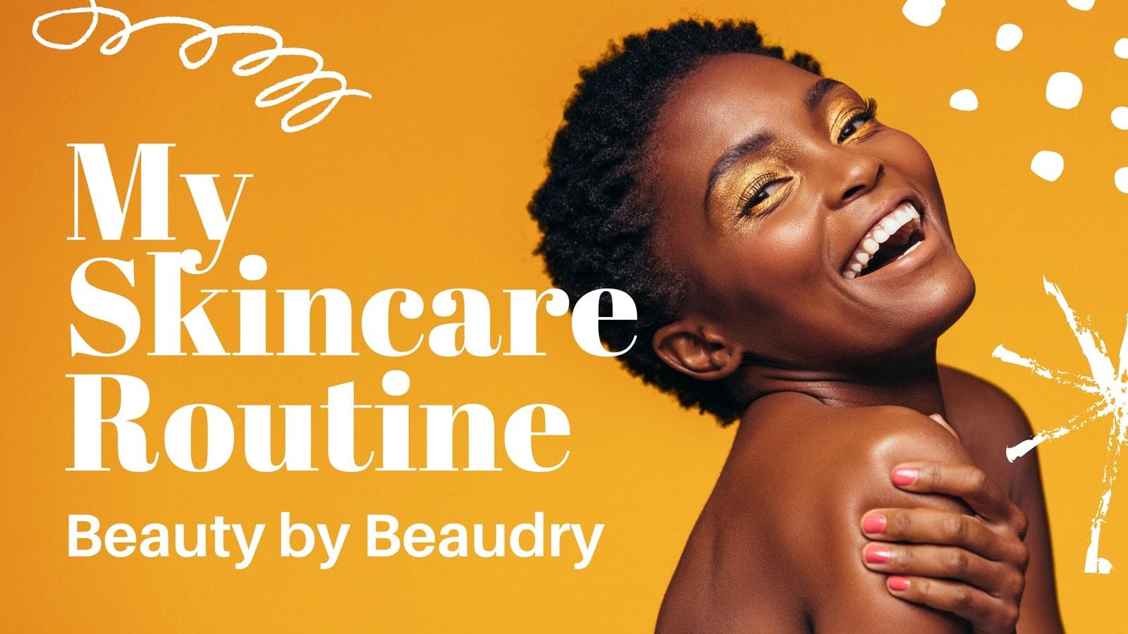 Orange and White Vibrant Modern Brushstrokes Beauty YouTube Thumbnail