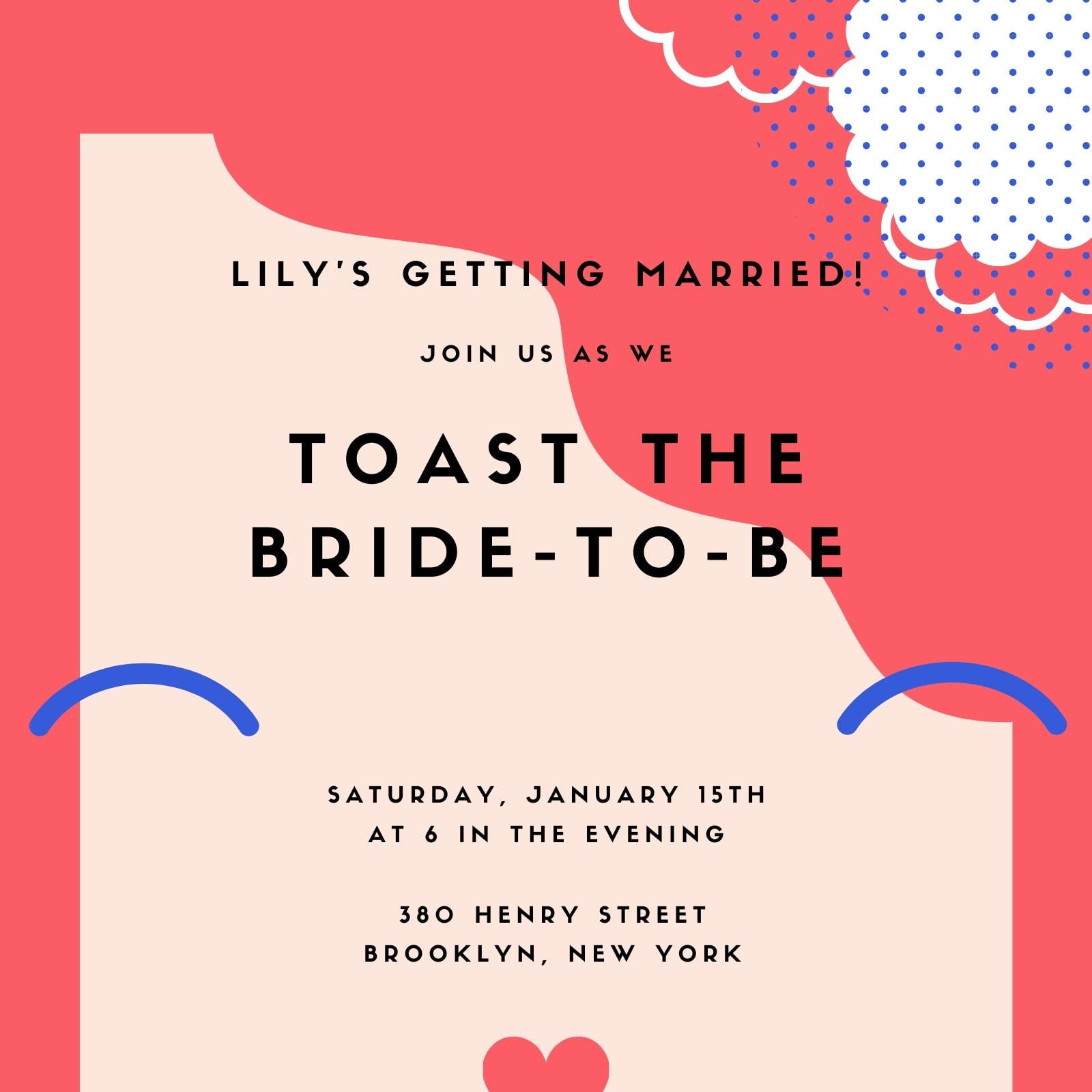 Abstract Girl Bridal Shower Invitation