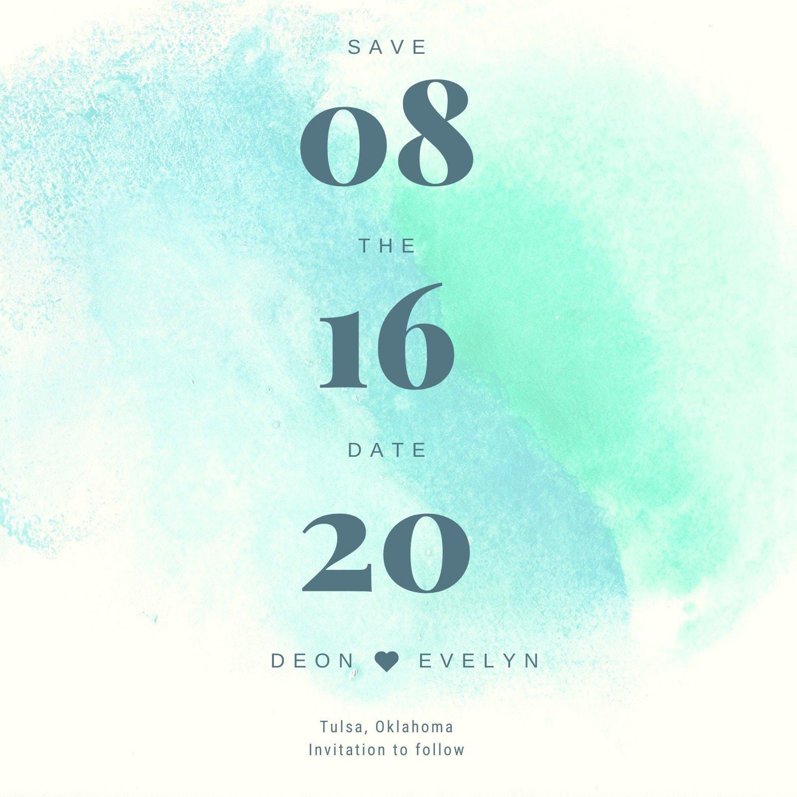 Wedding Save the Date Invitation