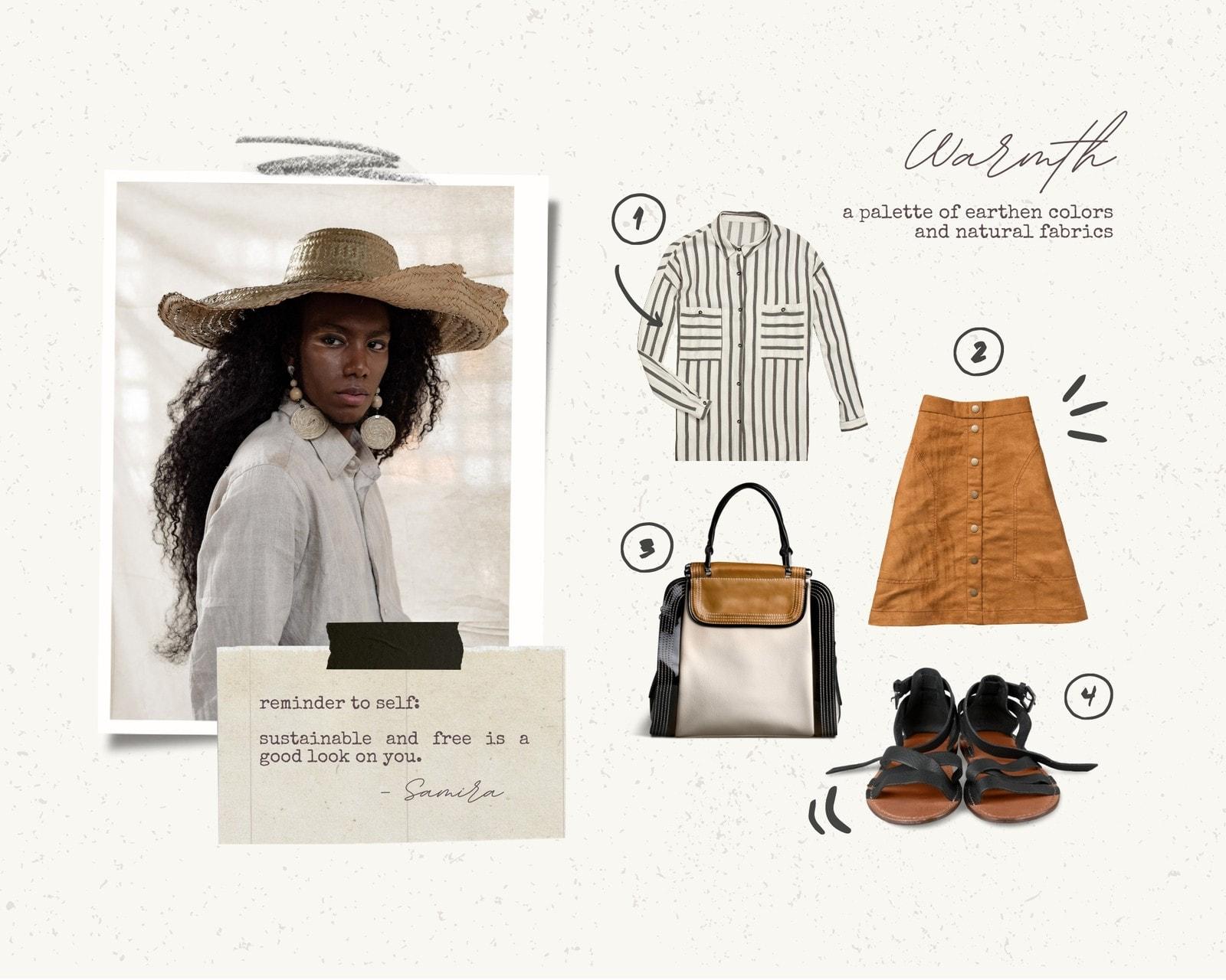 Beige DIY Collage Fashion Moodboard Photo Collage