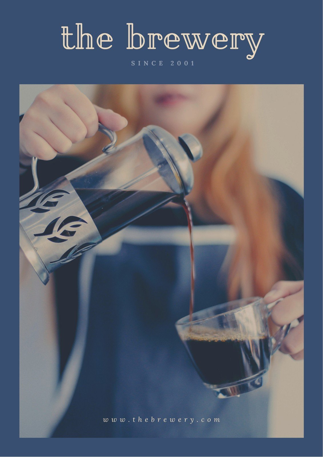 Blue and Cream Coffee Press Media Kit