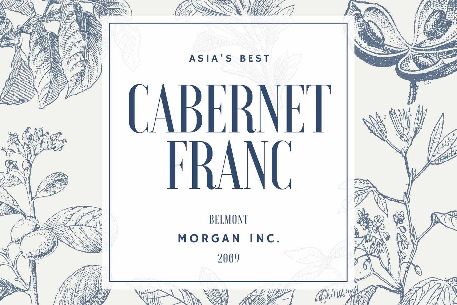 Cream with Vintage Illustration Wine Label