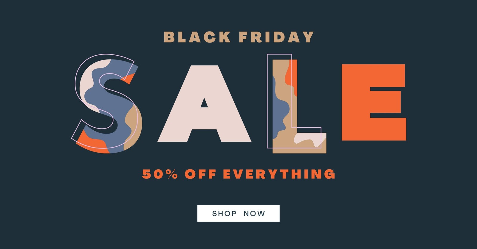Block letters black Friday Facebook Ad