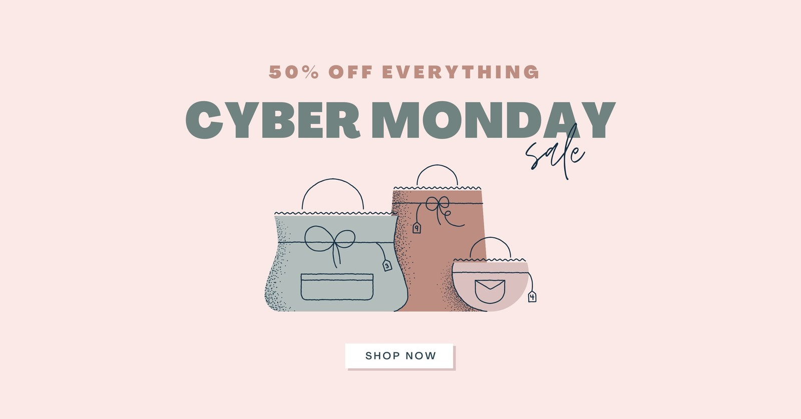 Feminine Cyber Monday Facebook Ad with call to action