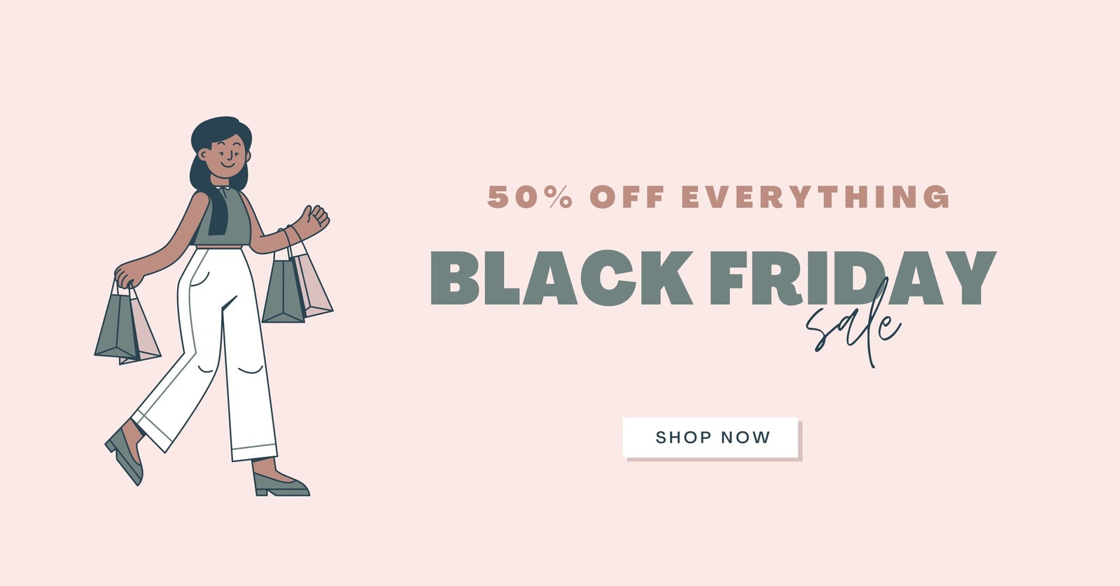 Feminine Black Friday Facebook Ad with call to action button