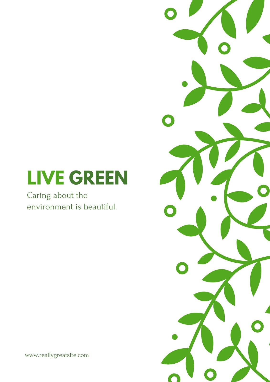 Live Green Campaign Poster