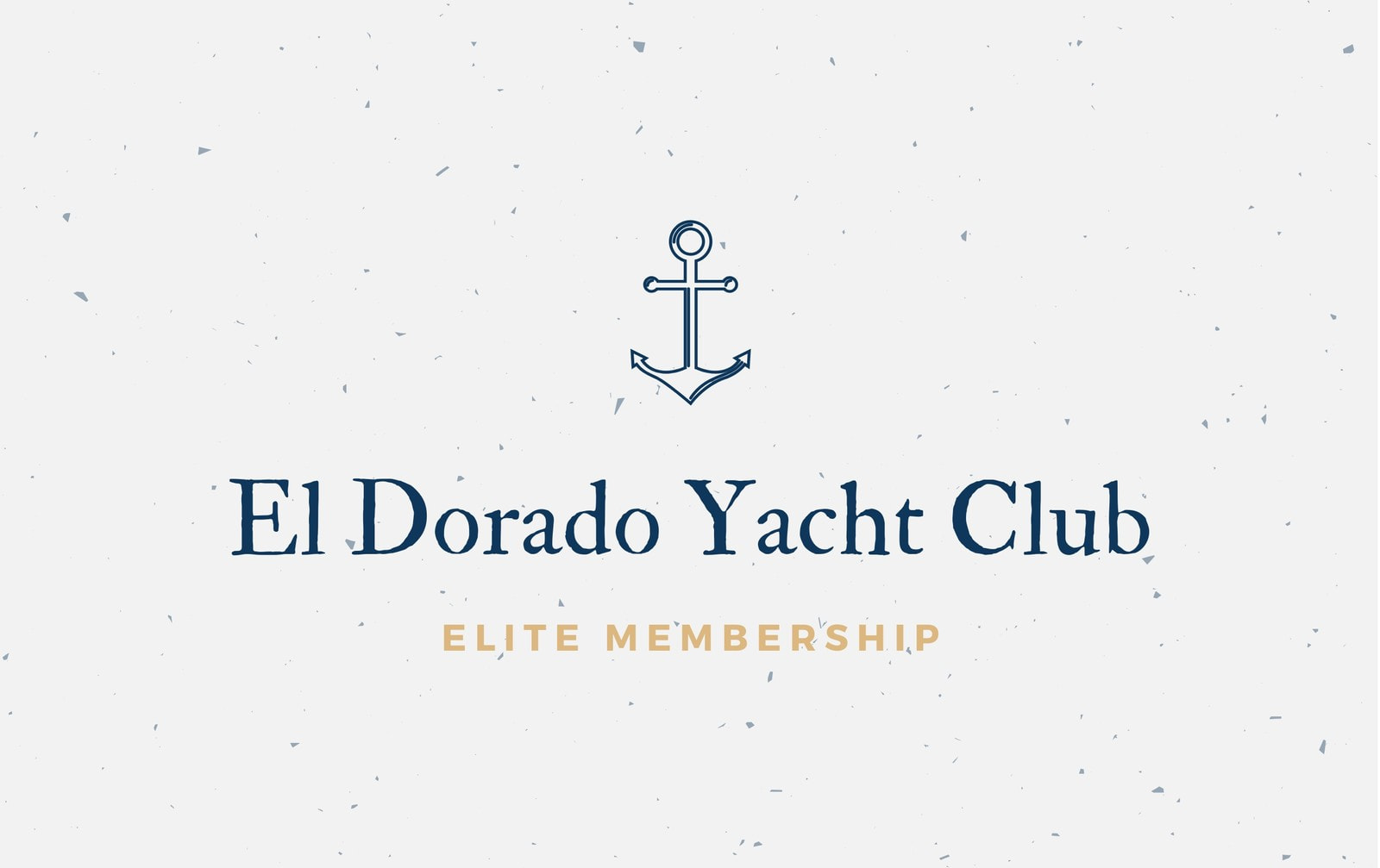 Blue and Gold Anchor Membership ID Card