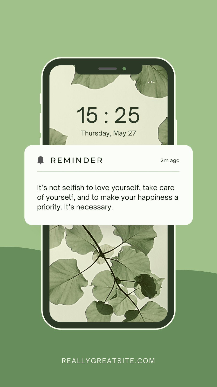 Phone Notification Reminder Instagram Story