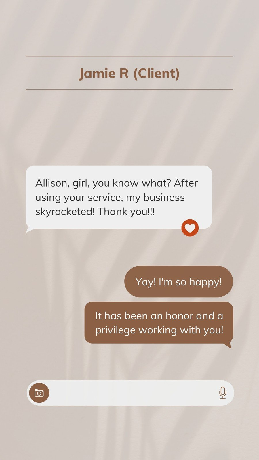UI/UX Inspired Instagram Story Business Review and Client Testimonial