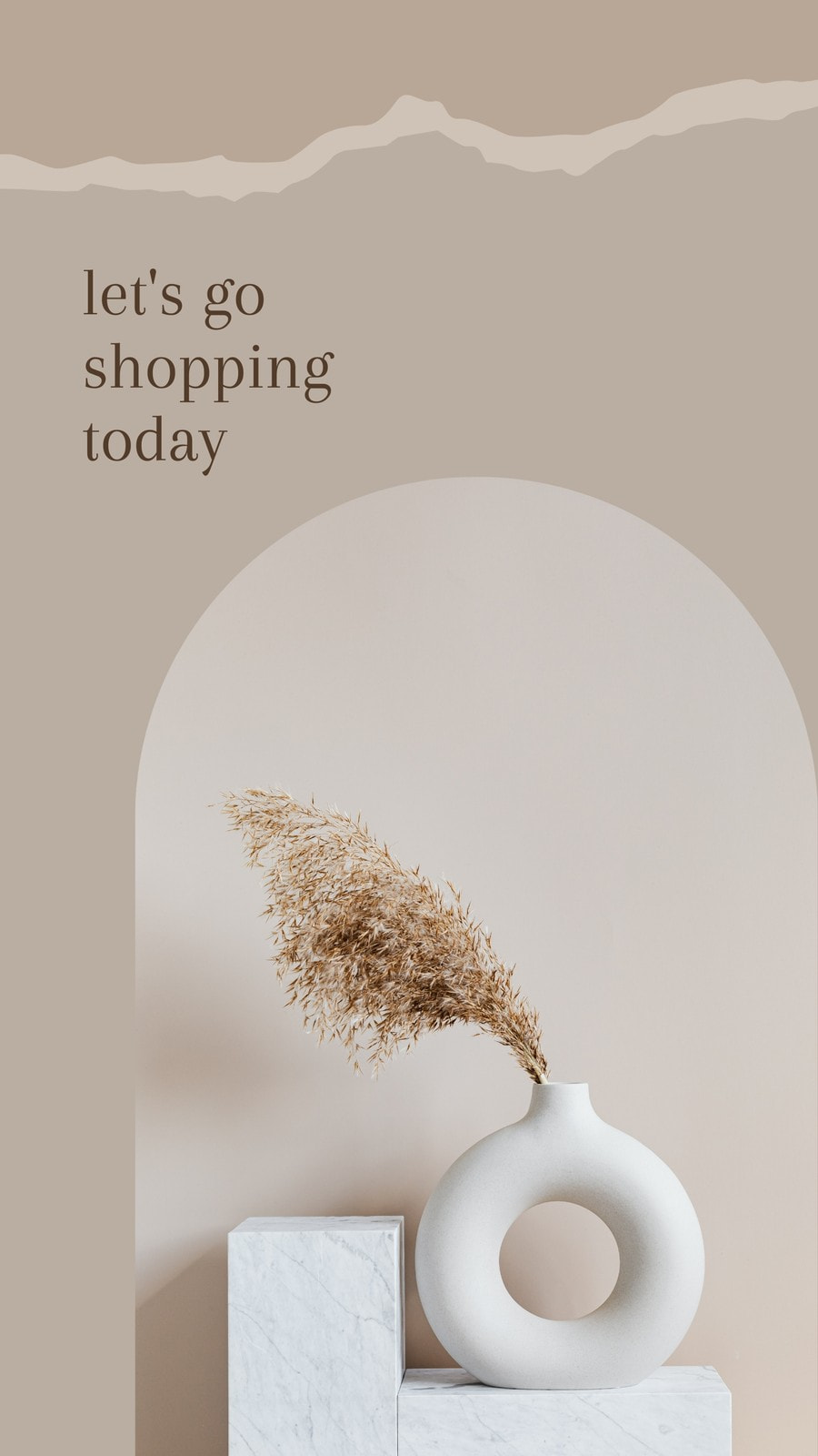 Natural Cream Beige Minimal Shopping Today Story