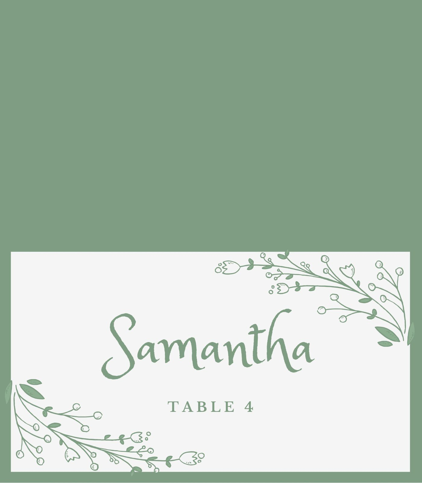 Green Birthday Place Card