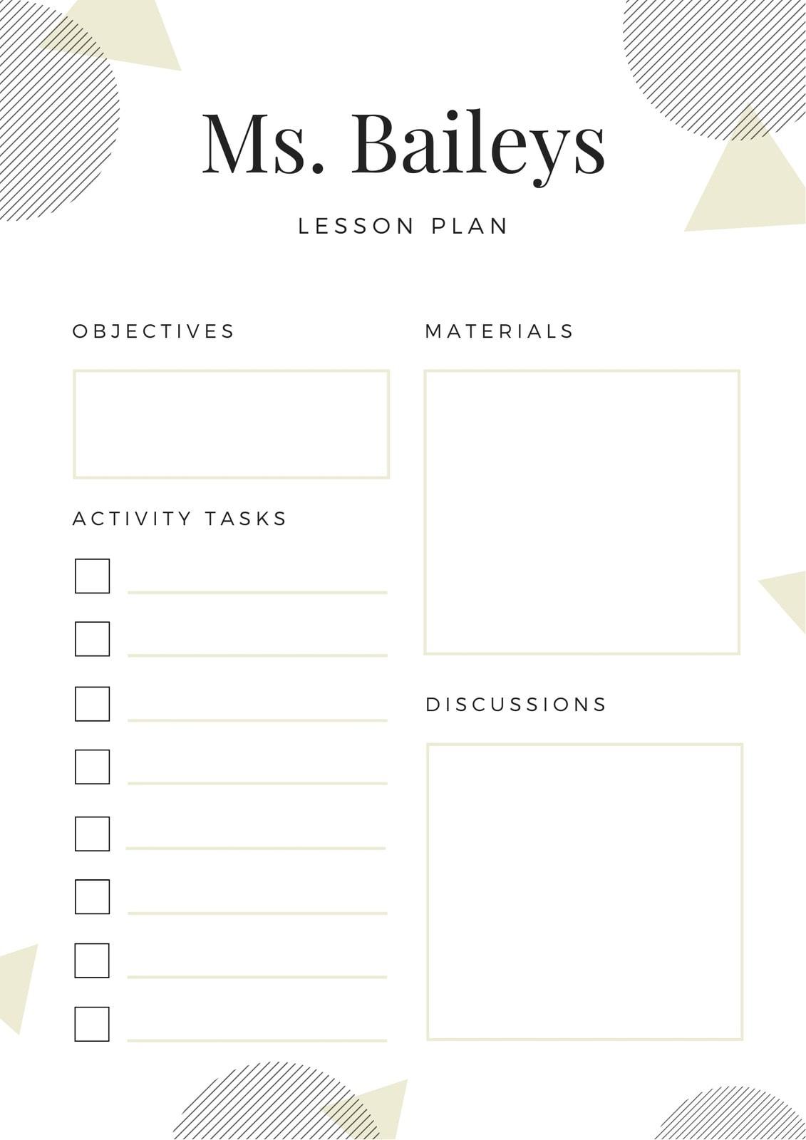 White Circles English Lesson Plan