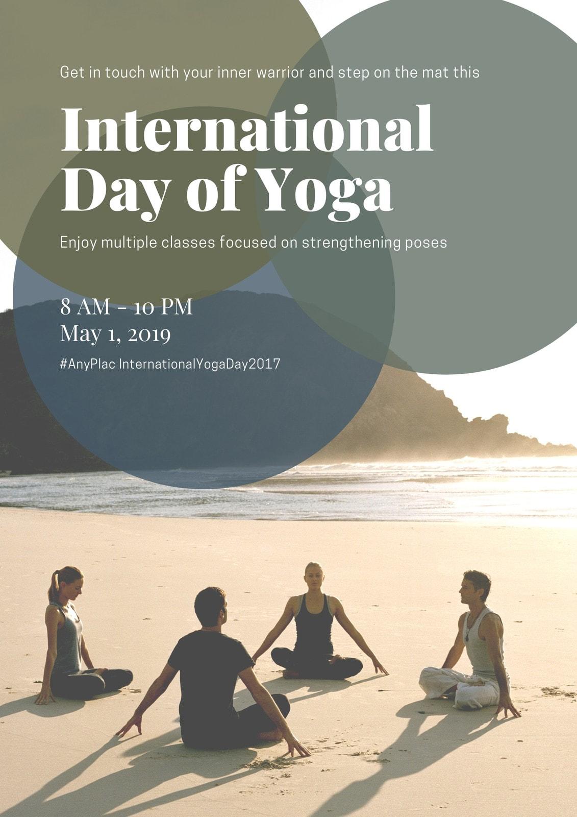 Green Beach International Day Of Yoga Poster