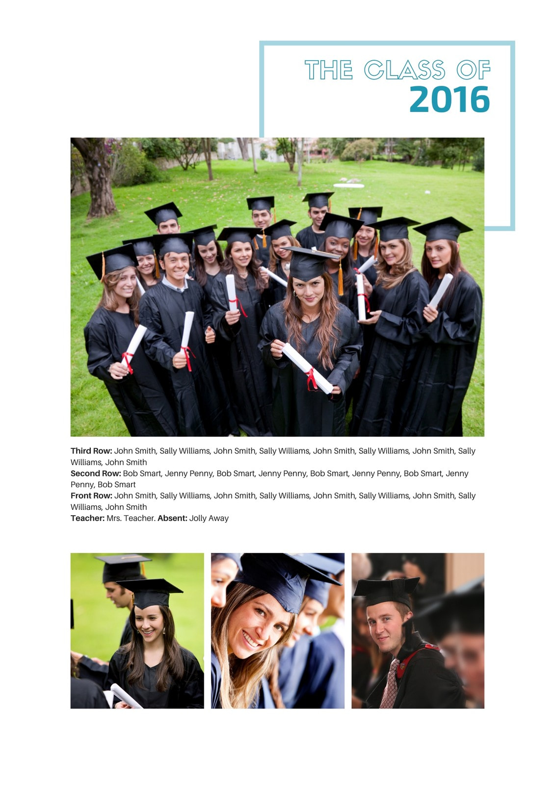 Crisp Cut Group Photo Yearbook Page 2