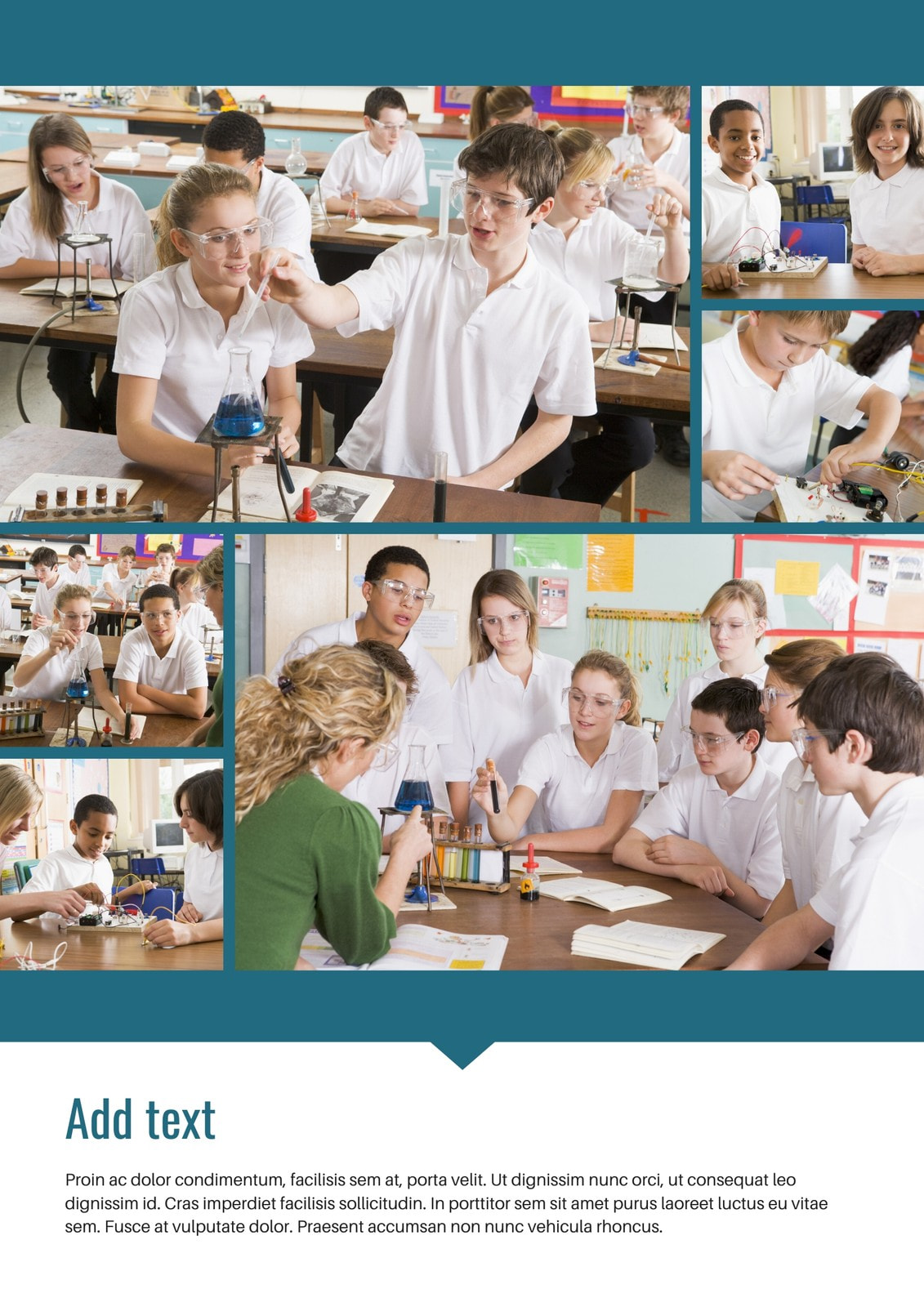 Blue Photo Collage Yearbook