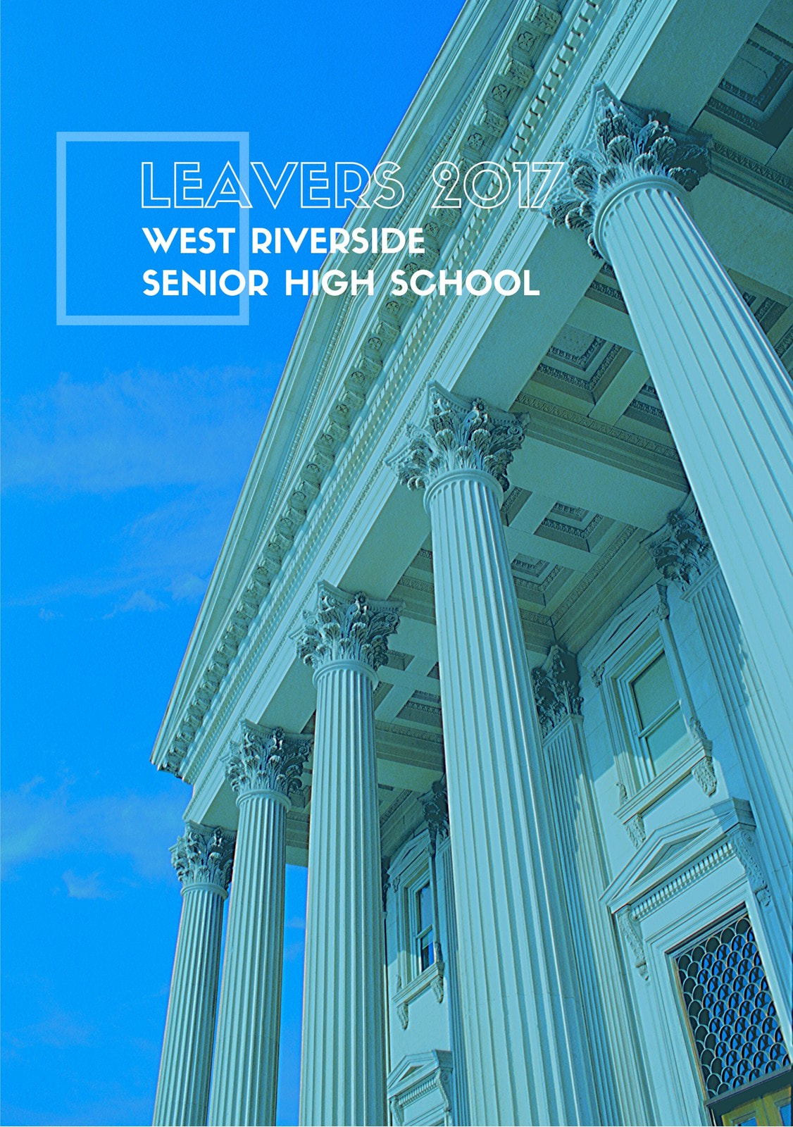 Blue University Photo Crisp Cut Yearbook