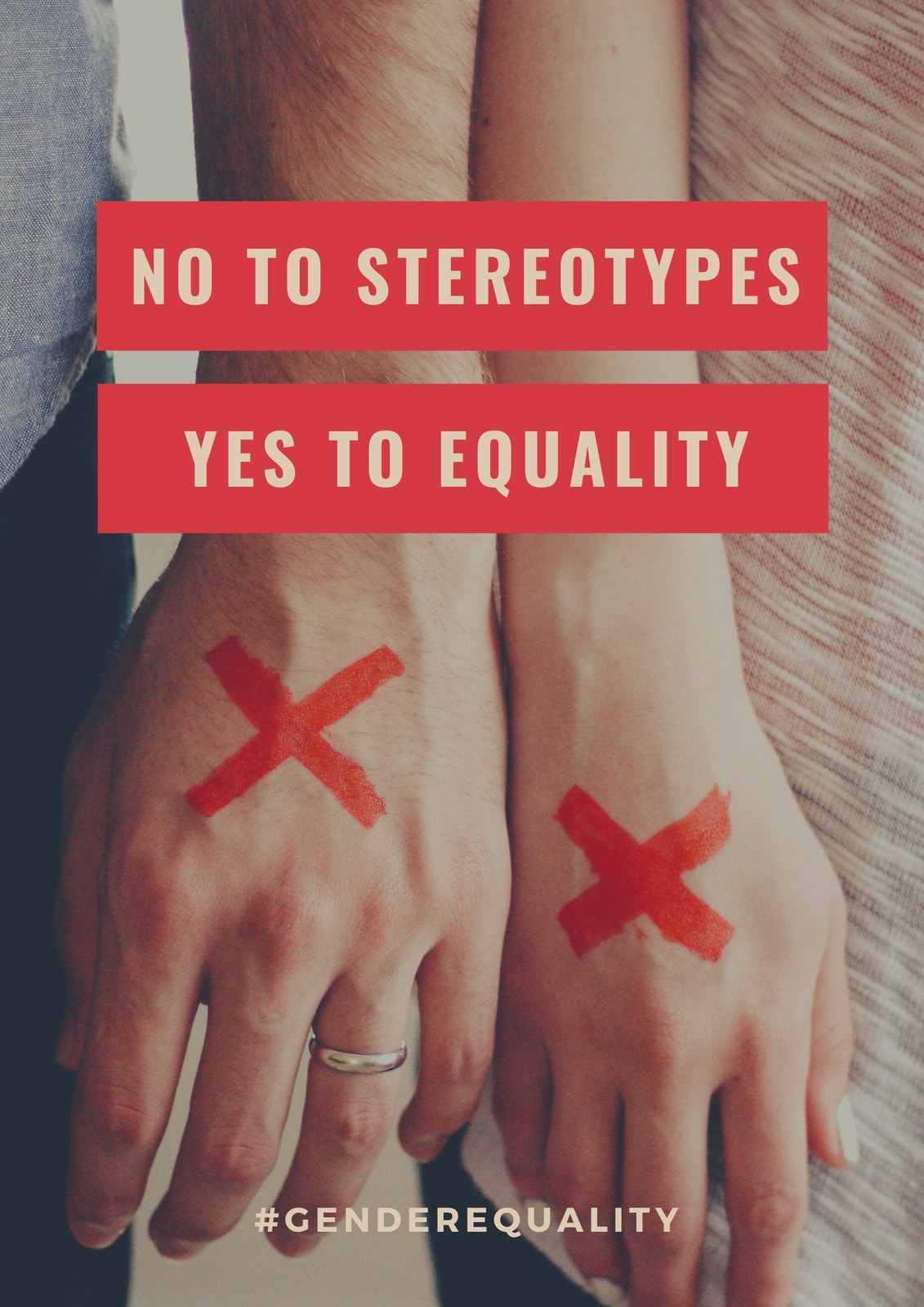 Red Box Photo Gender Equality Poster
