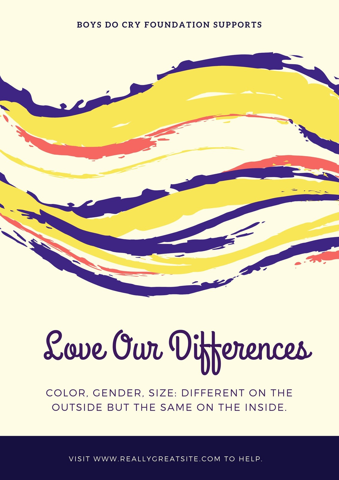 Colorful Brushstrokes Gender Equality Poster